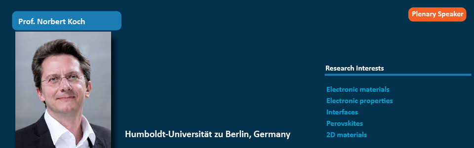 Prof. Dr. Norbert Koch Has Accepted to Attend ICNS8 as Keynote Speaker